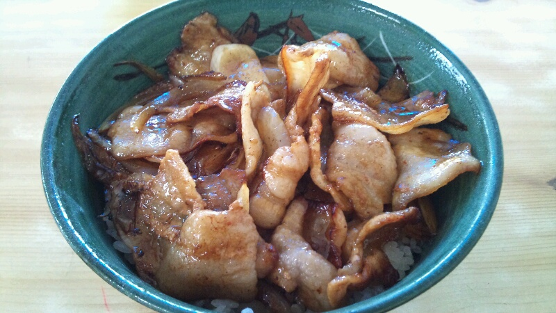 豚丼食ってポイントスリー